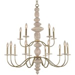 Carrara Chandelier - Champagne Gold / White Marble