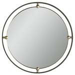 Janey Round Mirror - Natural Iron