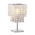 Falling Stars Table Lamp - Chrome / Crystal