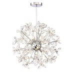 Meadow Chandelier - Chrome / Crystal