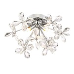 Adelle Ceiling Light Fixture - Chrome / Crystal