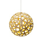 Coral Pendant - Bamboo / Natural / Yellow