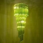 704/40 Spiral Pendant - Chrome / Green