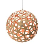Coral Pendant - Bamboo / Natural / Salmon