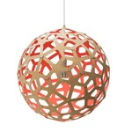 Coral Pendant - Bamboo / Natural / Red