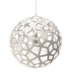 Coral Pendant - Bamboo / White