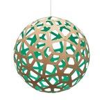 Coral Pendant - Bamboo / Natural / Aqua