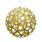 Coral Pendant - Bamboo / Natural / Lime