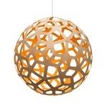 Coral Pendant - Bamboo / Natural / Orange