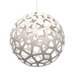 Coral Pendant - Bamboo / White