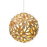 Floral Pendant - Bamboo / Natural / Yellow