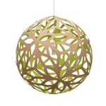 Floral Pendant - Bamboo / Natural / Lime