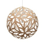 Floral Pendant - Bamboo / Natural / White