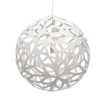 Floral Pendant - Bamboo / White / White