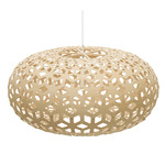 Snowflake Pendant - Bamboo / Natural