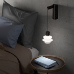 Drip Drop Hanging Wall Light - Black / Drop Frosted