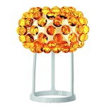 Caboche Piccola Table Lamp - White Lacquered Metal / Yellow Gold