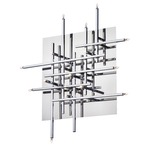 Mondrian Wall / Ceiling Light Fixture - Polished Chrome /