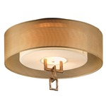 Link Semi Flush Ceiling Mount - Bronze Leaf / White