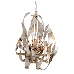 Graffiti Wall Sconce - Silver Leaf / Polished Stainless Steel / Smoked Crystal