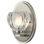 Hale Wall Light - Brushed Nickel / Frosted