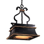 Montparnasse Square Pendant - French Black / Double French Scavo