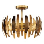 Manitou Semi Flush Ceiling Light - Ardor Gold