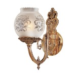 Signature N801901 Wall Light - Antique Classic Brass / Frosted