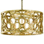 Regatta Chandelier - Stained Silver Leaf /