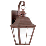 Chatham Dark Sky Outdoor Wall Light - Weathered Copper / Frosted Seeded Glass