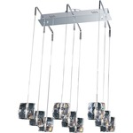 Neo 9 Light Suspension - Polished Chrome / Crystal