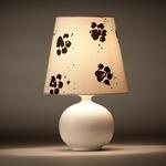 Momo Table Lamp - White / White / Black