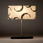 Seline Table Lamp - Brushed Chrome / Faux Leather / Natural / Black