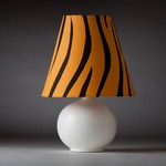 Zaida Table Lamp - White / Black / Safari Stripes