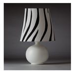 Zaida Table Lamp - White / White / Black Stripes