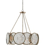 Oliveri Chandelier - Pyrite Bronze / Raj Mirror