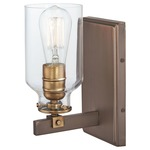 Morrow Wall Sconce - Harvard Court Bronze / Clear