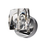 Neo Bathroom Vanity Light - Polished Chrome / Crystal