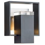 Shadow Box Outdoor Wall Light - Coastal Black / Burnished Steel