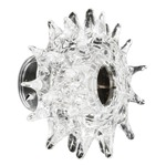 Kuk PP Wall / Ceiling Mount - Polished Chrome / Clear Crystal