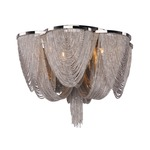Chantilly Ceiling Light Fixture - Polished Nickel / Nickel