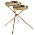 Olivia Side Table - Polished Gold