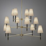 Ventana Three Tier Chandelier - Antique Brass /