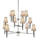 Ventana Three Tier Chandelier - Polished Nickel /