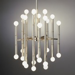 Meurice Chandelier - Polished Nickel /