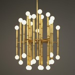 Meurice Chandelier - Antique Brass /