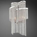 Cadena Wall Sconce - Nickel / Nickel Strands