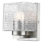 Barrett Wall Light - Brushed Nickel / Clear