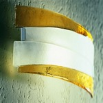Riflessi Wall Sconce - Polished Chrome / Satin Crystal / Amber
