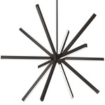 Sirius Chandelier - Black / Frosted